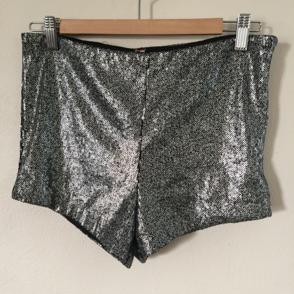 Free People Pants - Free People Katrin High Waist Sequin Shorts